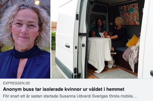 Anonym buss tar isolerade kvinnor ur våldet i hemmet