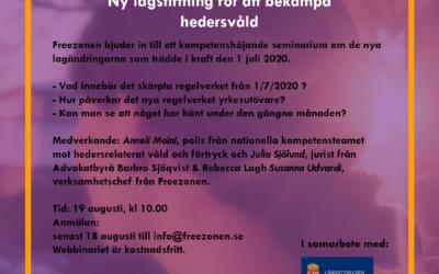 Webinar om ny lagstiftning för att bekämpa hedersvåld