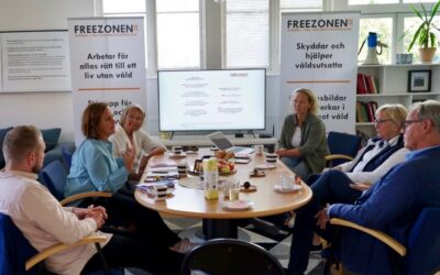 Liberalernas partisekreterare Juno Blom besöker Freezonen