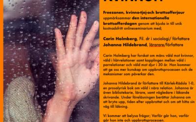 Webinarie om våld mot kvinnor